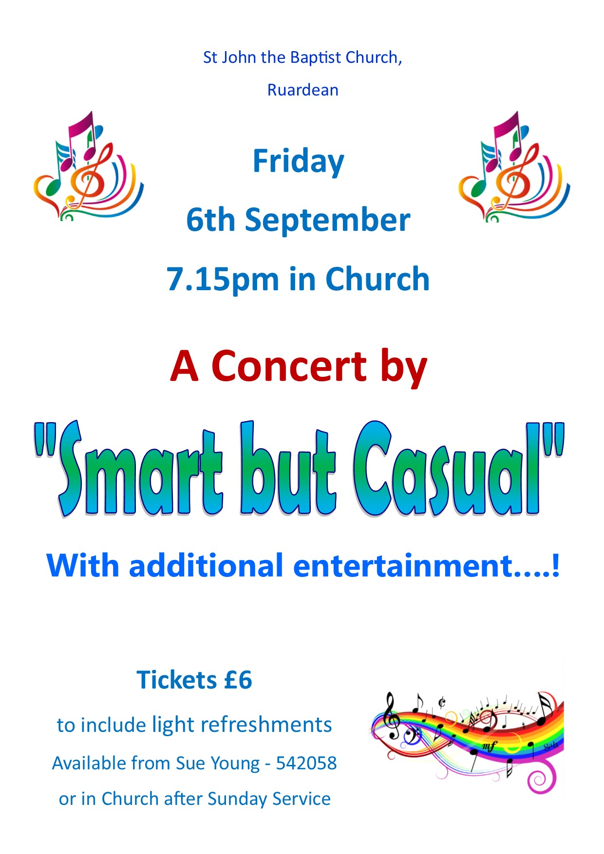 Smart but Casual Poster 6th September 2019