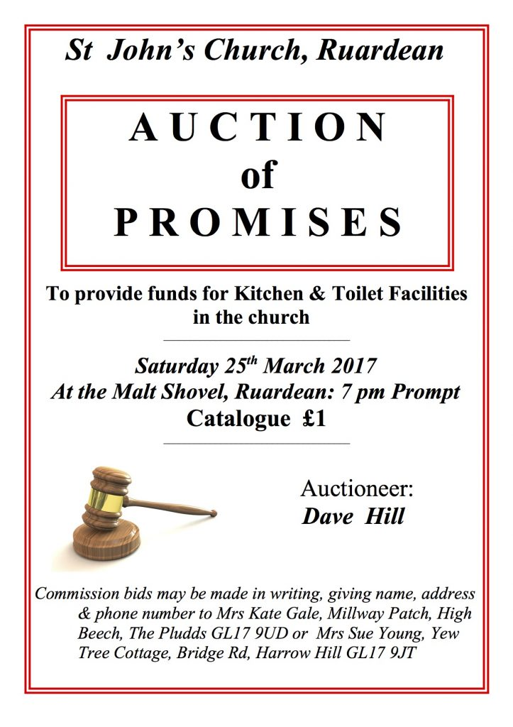 AUCTION PROMISES POSTER