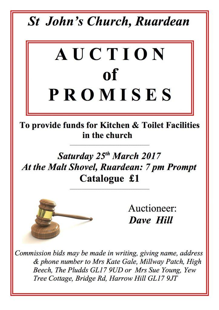 AUCTION PROMISES POSTER