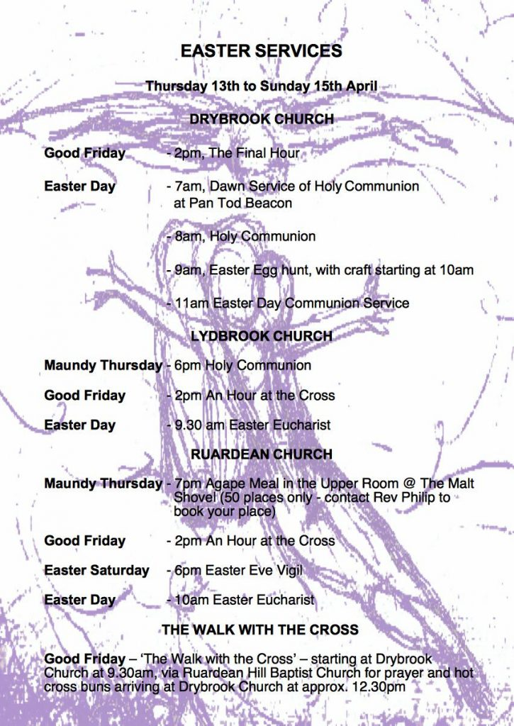 Easter services poster
