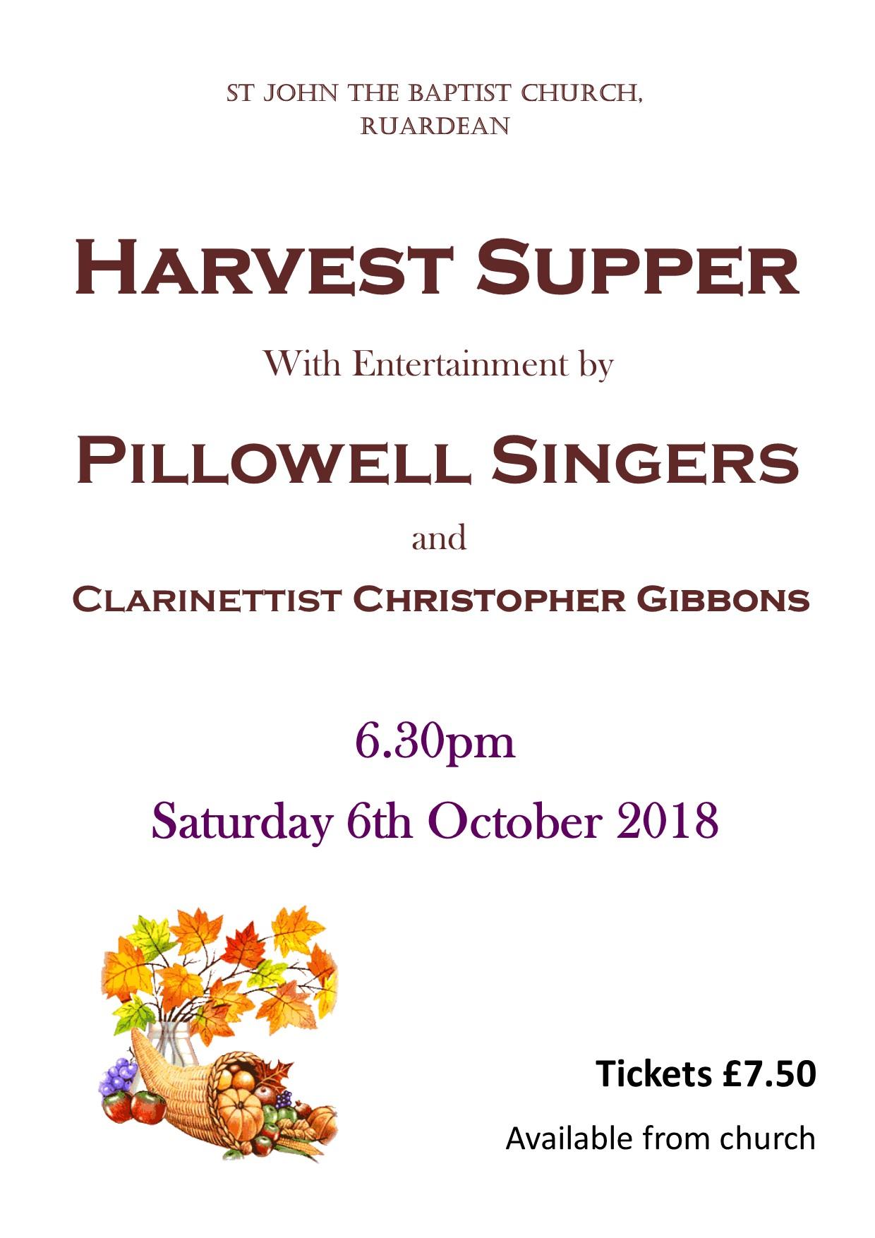 Harvest Supper Poster