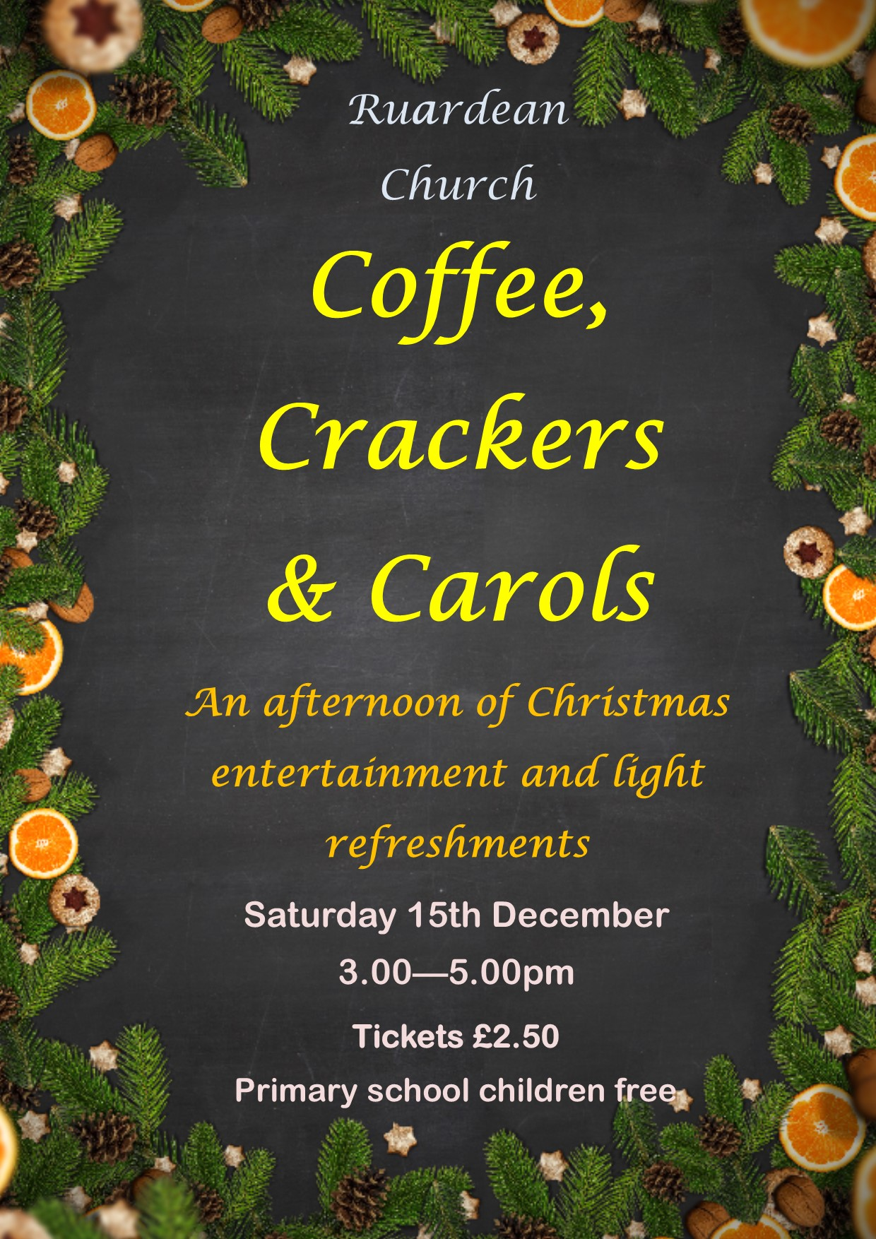 Coffee, Crackers and Carols poster 2018