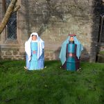 Mary & Joseph have arrived in the Churchyard, I think the donkey must be round the corner!